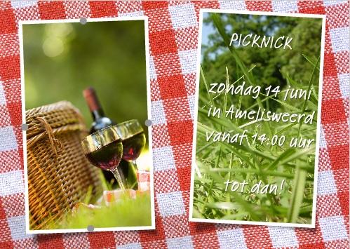 creatief met fotokaarten – uitnodiging picknick - voorbeeld
