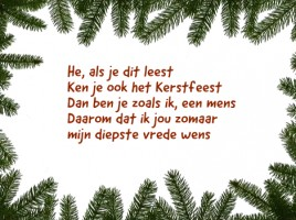 kerstkaart tekst van jure