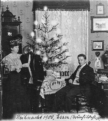 kerstkaart wagner 1908