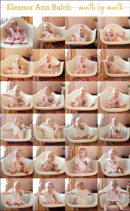 collage baby foto's