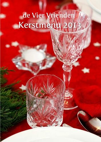 kerstkaart kerstmenu 2013