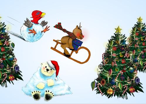 nieuwe kerstkaart versieringen