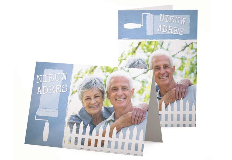 Verhuiskaart en adreswijziging met foto
