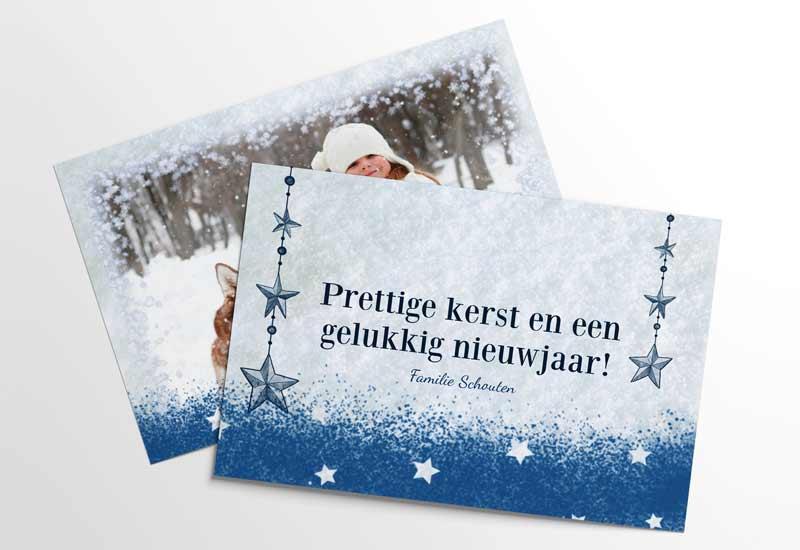 Fijne feestdagen in sneeuw