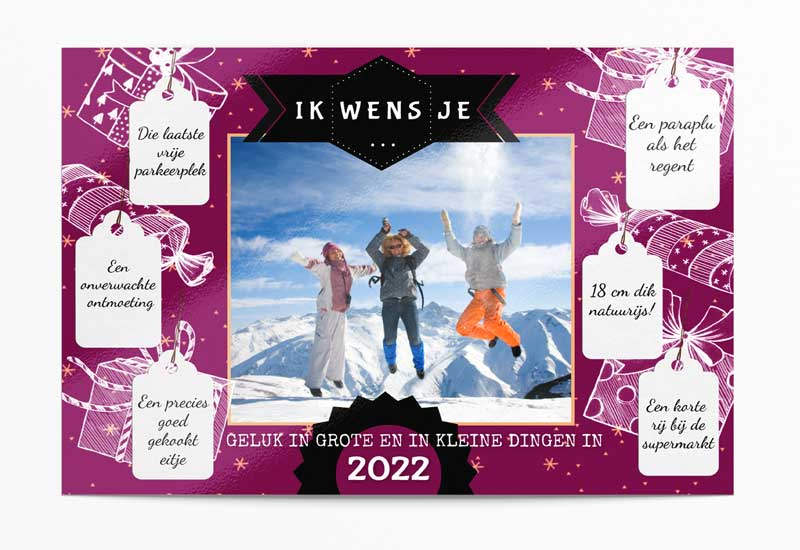 Kerstwensen fotokaart