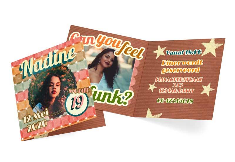 Funky Uitnodingskaart