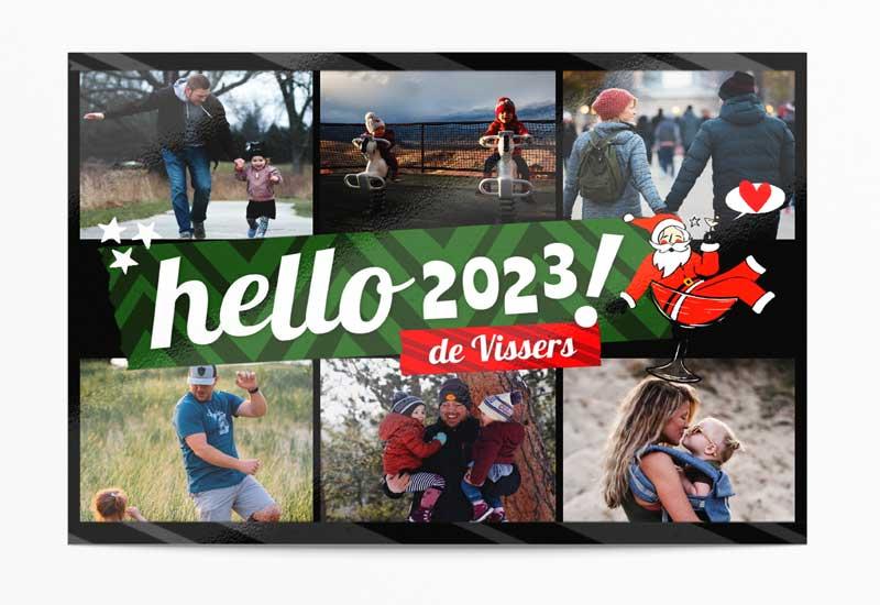Kaart Hello 2021 met 6 foto\'s