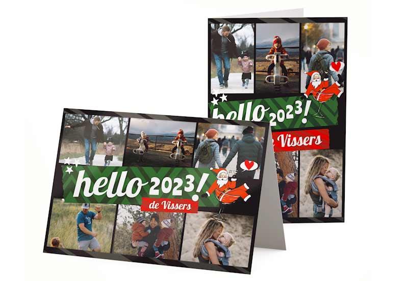 Kaart Hello 2020 met 6 foto\'s