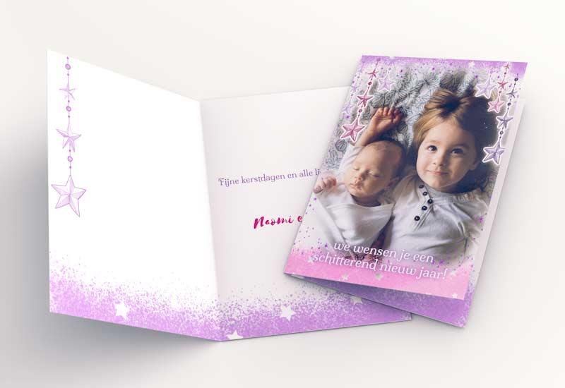 Kerstkaart met foto - Jouw jaar om te schitteren