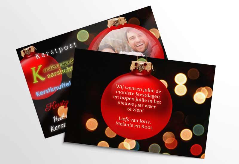 Kerstpost en kaarslicht