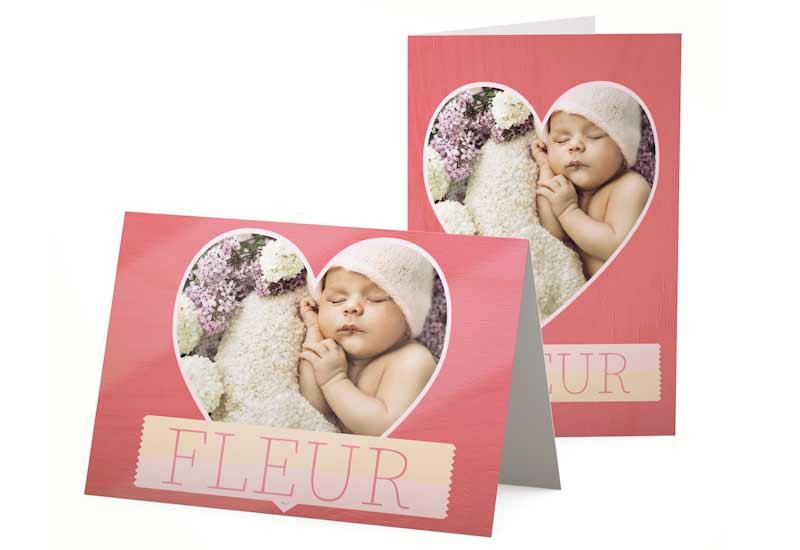 Lief geboortekaartje voor meisje