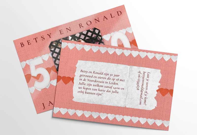 Liefdevolle uitnodiging meerjarig huwelijksfeest