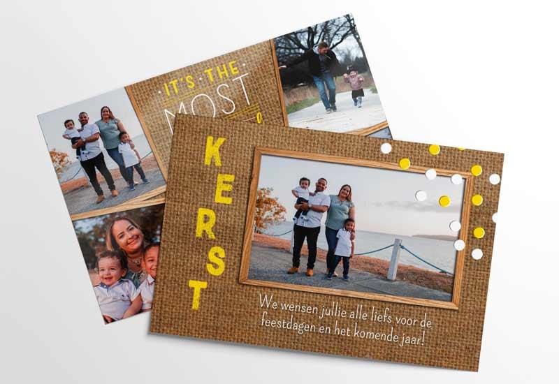 Kerstkaart Most Wonderful Time of the Year met 4 foto\'s