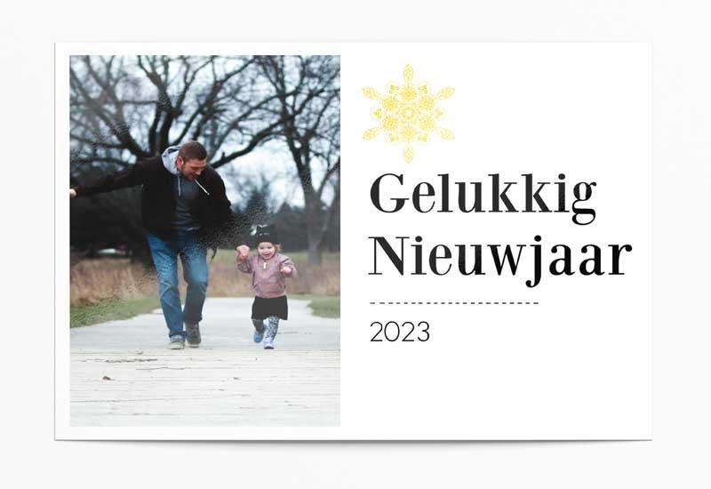 Simpele strakke nieuwjaarskaart met foto