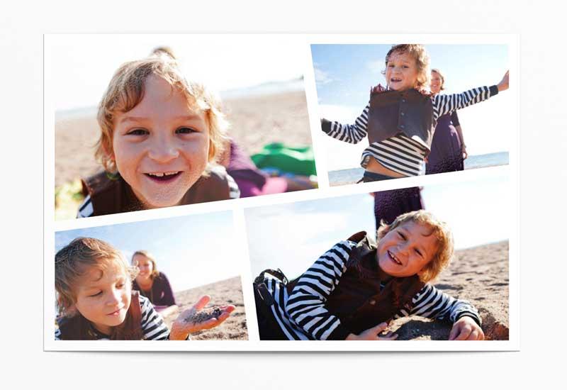 Sjabloon met vier scheefgeplaatste foto\'s
