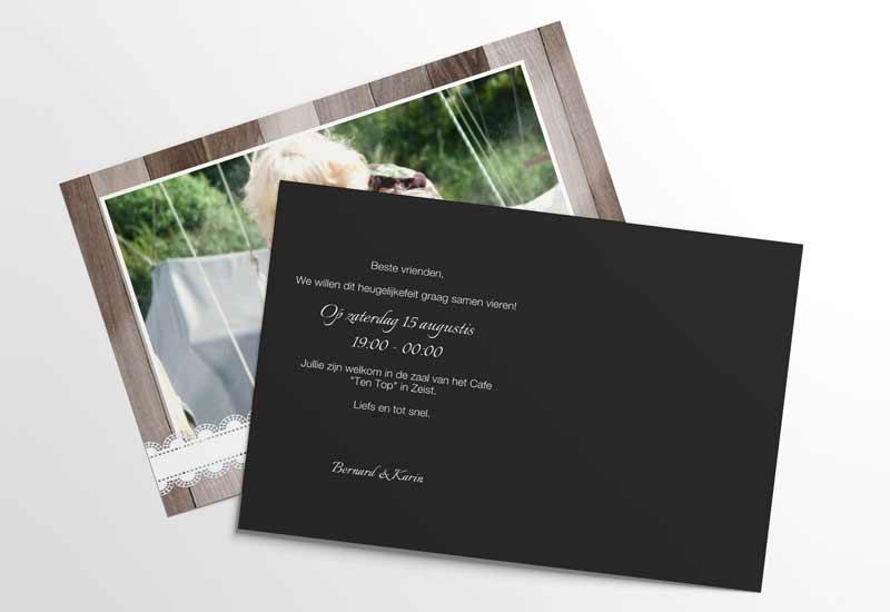 Stijlvolle jubileumkaart 25 jaar getrouwd