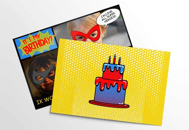 Uitnodiging voor superhelden-feestje