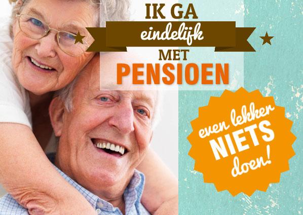 pensioen uitnodiging maken