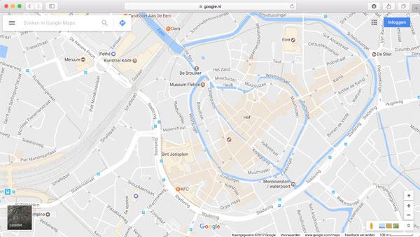 Voeg Google Maps toe aan je ontwerp bij Fotokaarten.nl
