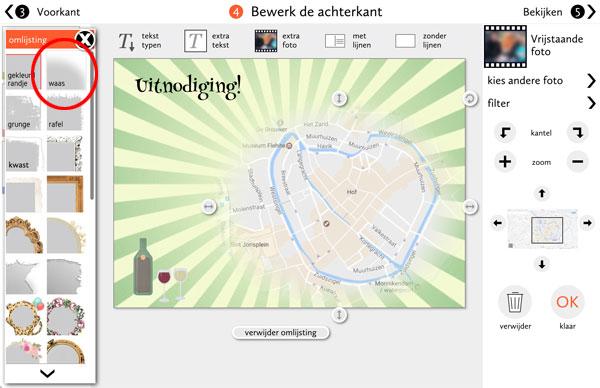 De 'waas'-omlijsting bij Fotokaarten.nl
