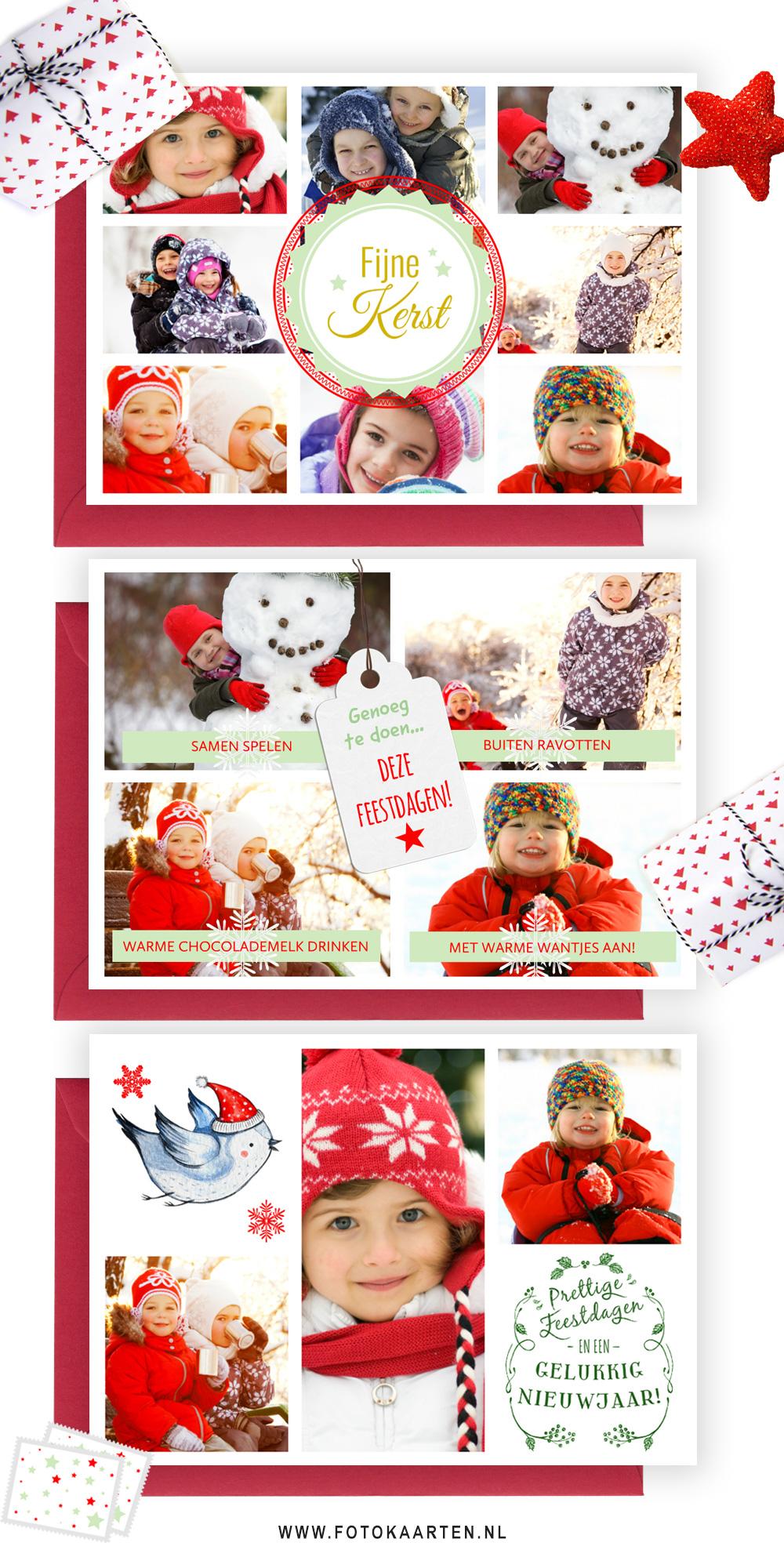 Fotocollage, idee, kerstkaarten laten drukken, leuk idee, mooie kaarten, goedkoop, snel en eenvoudig.