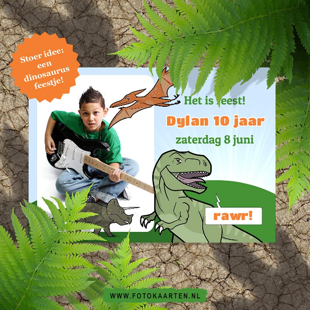 Fotokaarten_Dino_dinosaurus_thema_kinderfeestje_leuk_activiteit