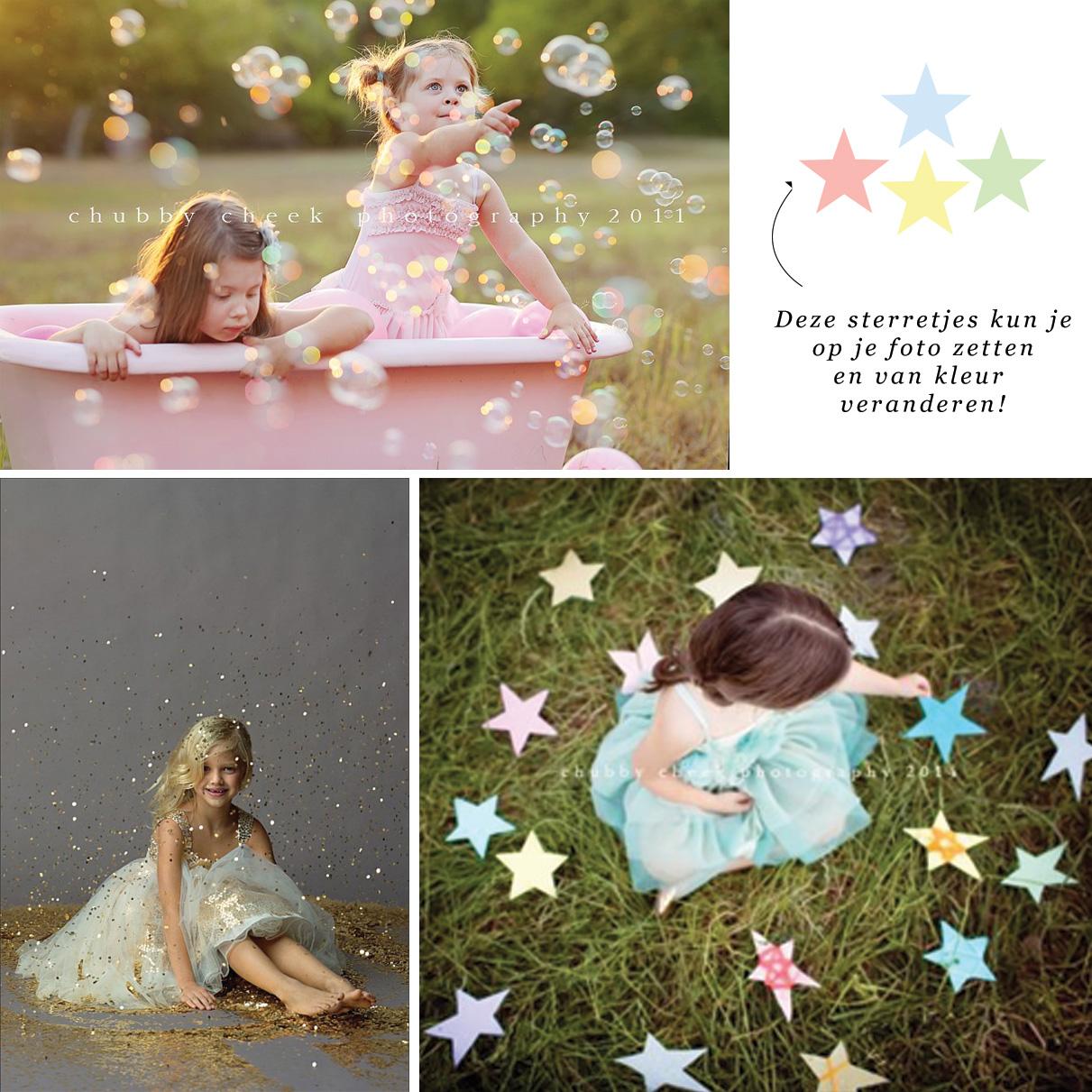 Fotoshoot communie tips versiering zeepbellen glitters sterren