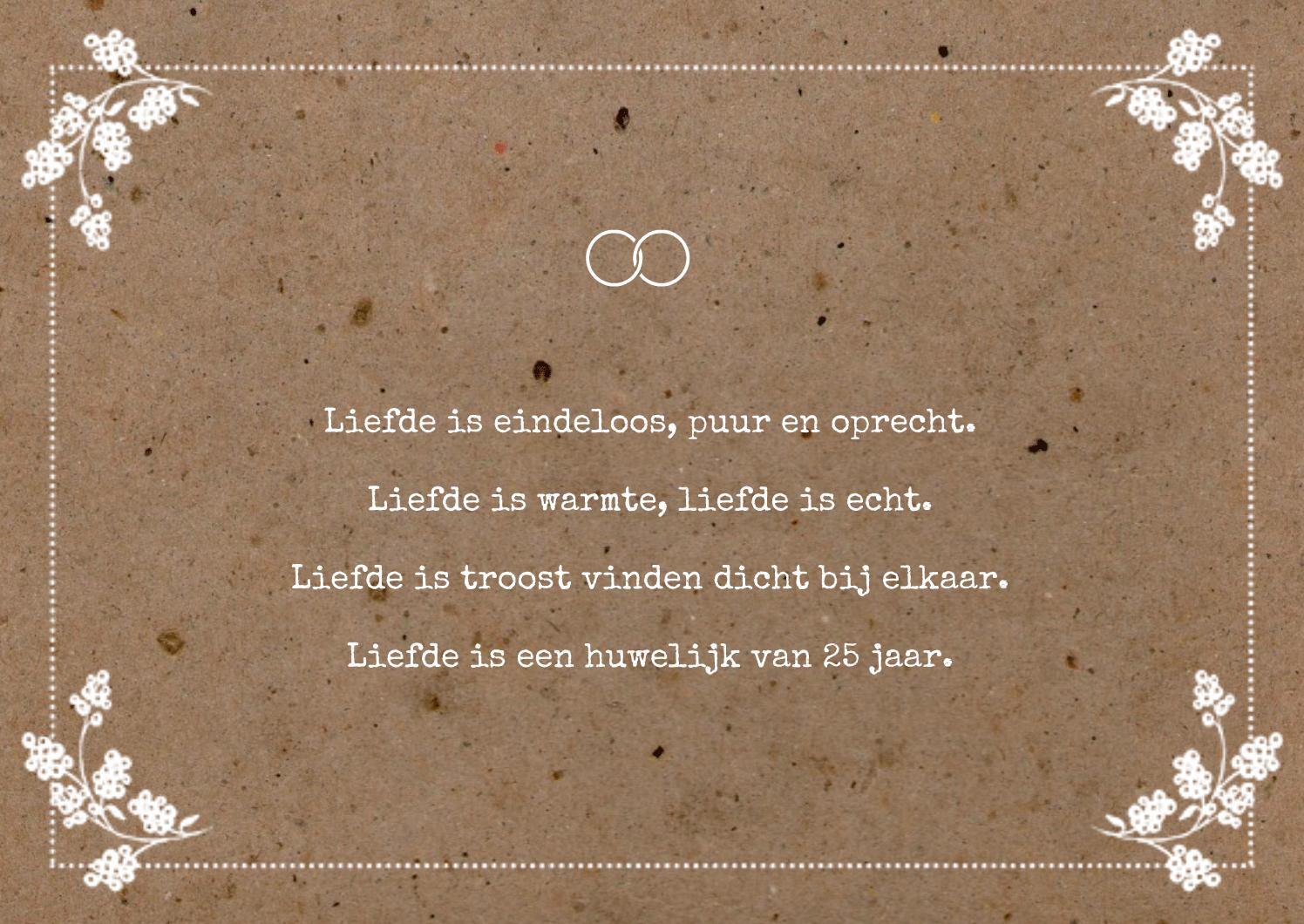 5 jarig huwelijk gedicht Genoeg 12.5 Jaar Getrouwd Gedicht &VA04 – Aboriginaltourismontario 5 jarig huwelijk gedicht