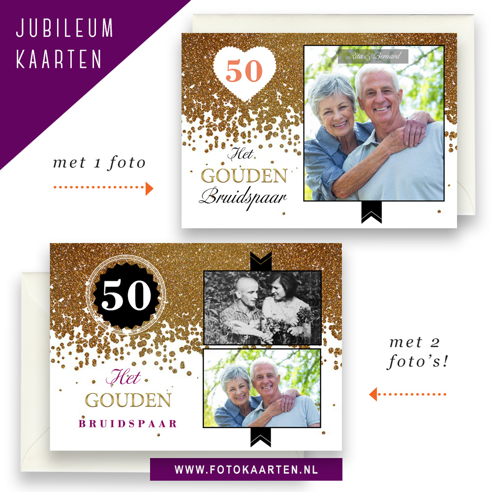 Jubileum feest tips voor kaarten goud confetti