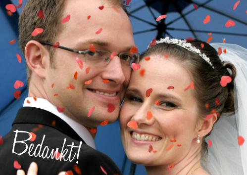 voorbeeld bedankkaartje trouwfeest