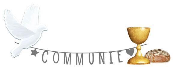 Uitnodiging voor communie zelf maken