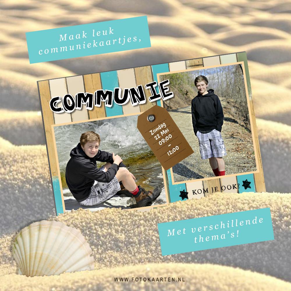 communie kaart uitnodiging met foto tips leuk