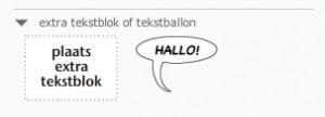 nieuw:gebruik meerdere tekstblokken met ieder hun eigen opmaak (kleur, lettertype, grootte)