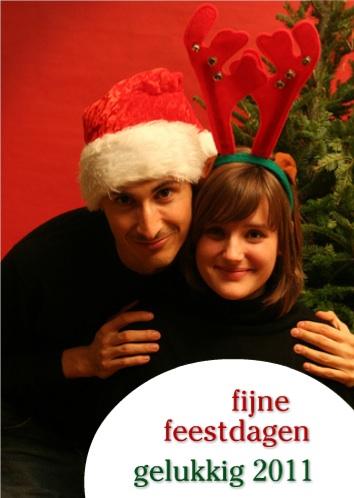 foto kerstkaart kerst 2010 nieuwjaar 2011