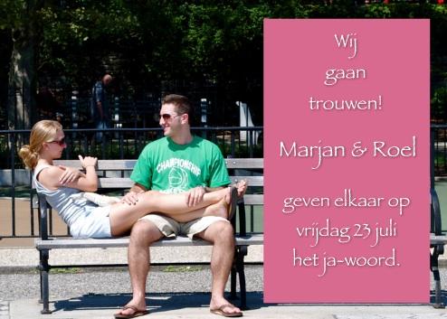 fotokaarten aankondiging van trouwdag