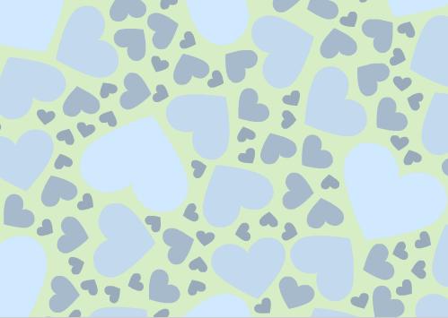 fotokaarten achtergrond met harten in groen