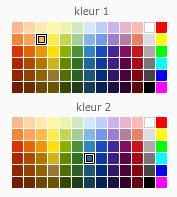 kleurkeuze fotokaarten achtergronden