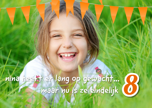 uitnodiging kinderfeestje met foto