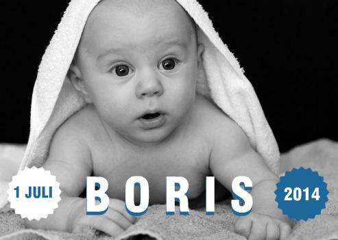 stoer geboortekaartje met foto