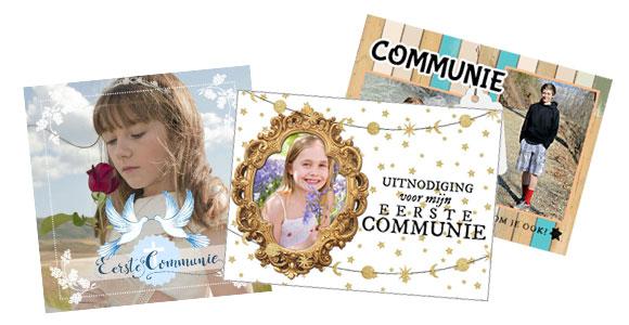 Voorbeelden van uitnodigingen voor communie