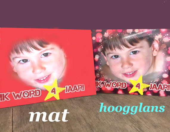 matte fotokaarten