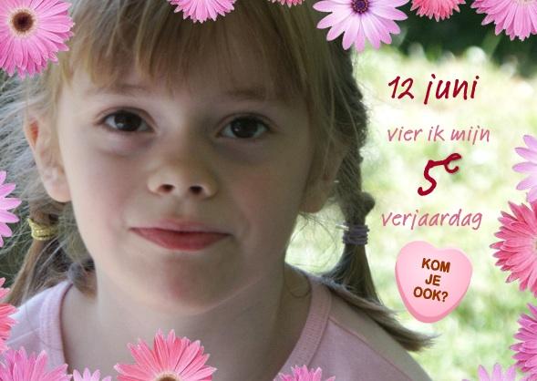 fotokaart uitnodiging kinderfeestje