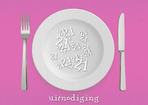 Je zelfgemaakte uitnodiging voor een 21 diner