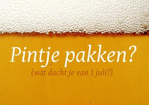 uitnodiging met bierglas