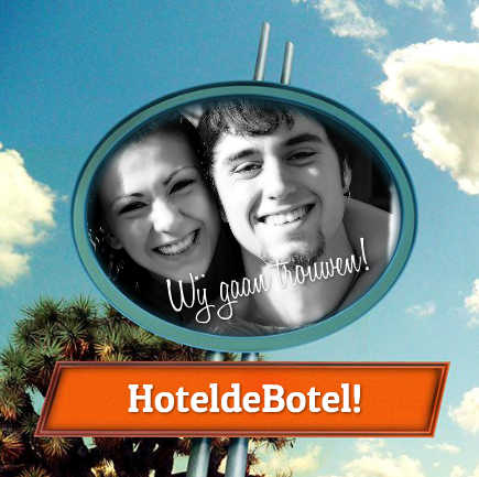 hotelbord uitnodiging