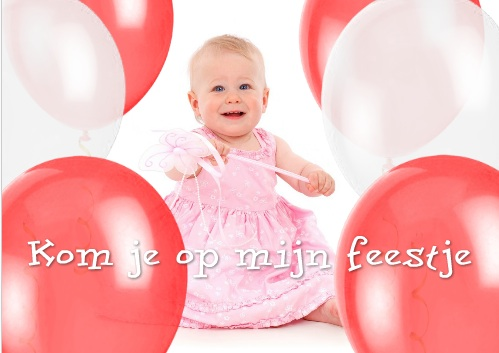 uitnodiging kinderfeestje qr code