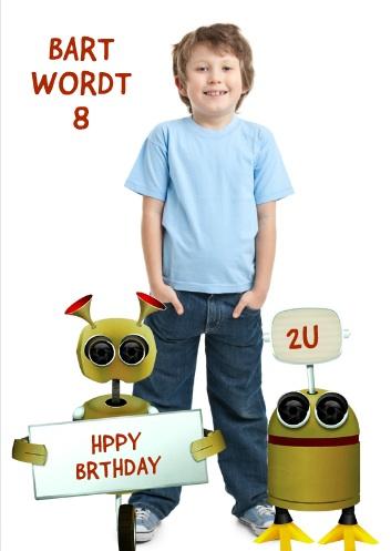 uitnodiging kinderfeestje met robots