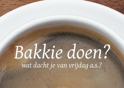 uitnodiging met koffie-foto