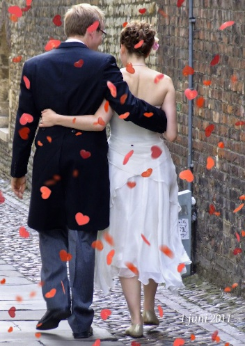 fotokaarten bedankkaart voor trouwdag