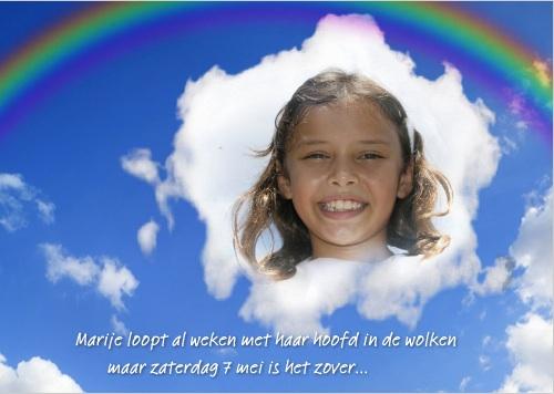 voorbeeld communiekaart regenboog